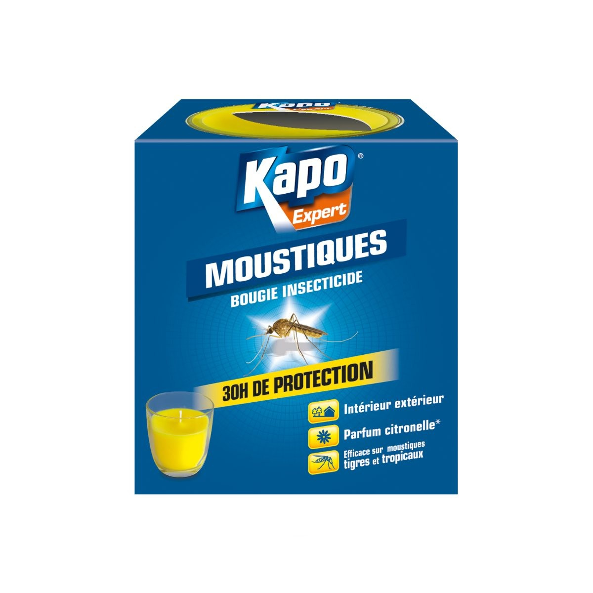 Bougie insecticide anti-moustiques - Insecticides Kapo Expert