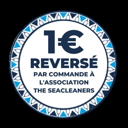 1 euro par commande reversé à The SeaCleaners