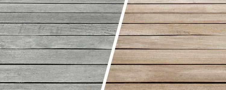 Terrasse en bois avant et après rénovation