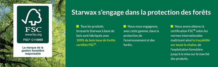 Starwax s'engage dans la protection des forêts